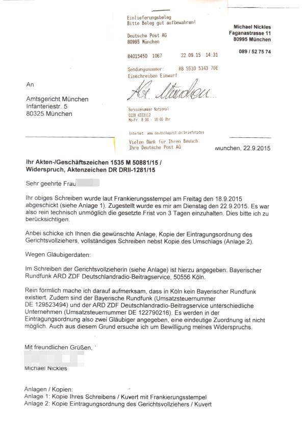 Ard Zdf Ankündigung Der Eintragung In Das Schuldnerverzeichnis