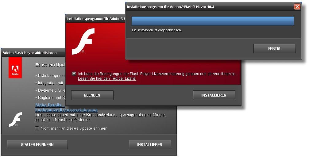 flash player installieren geht nicht