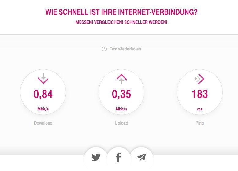 iMac langsam, hier Speedtest der Telekom