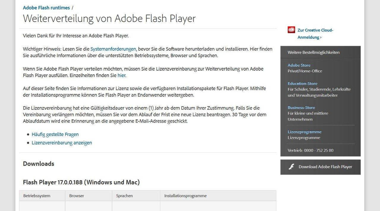 warum kann ich nicht adobe flash player installieren