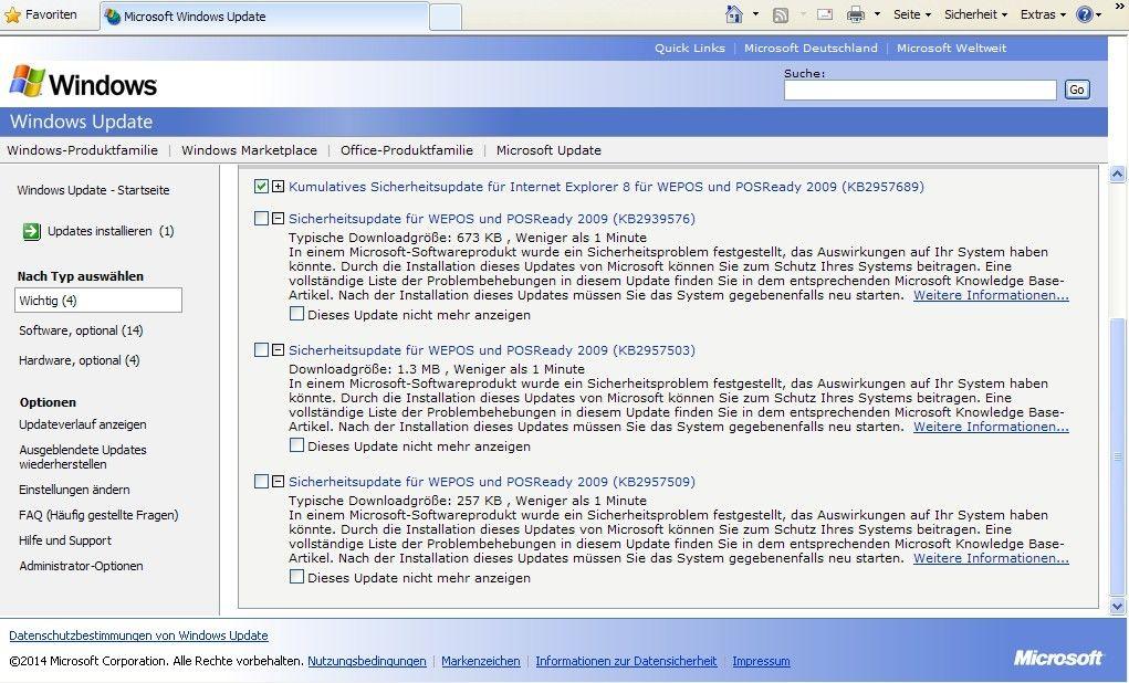 Updates Für Windows Xp